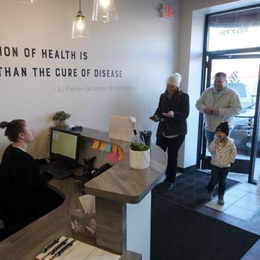 Patients in reception area