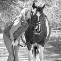 Corrine kissing horse