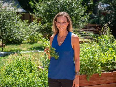 Nikki with plants
