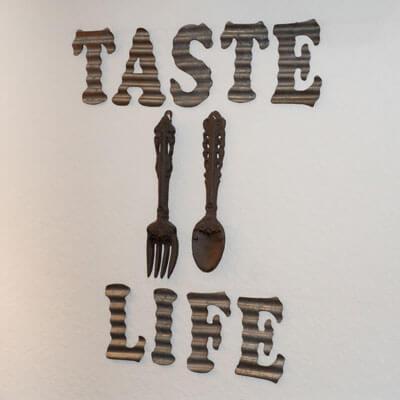 Taste of life sign