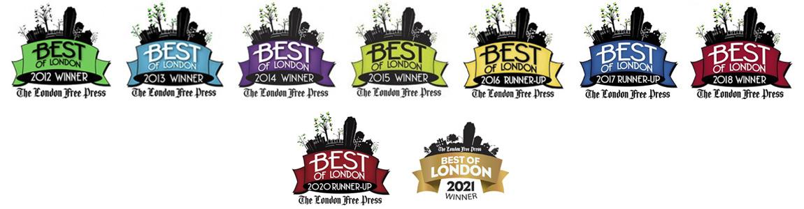 Best Of London Award logos