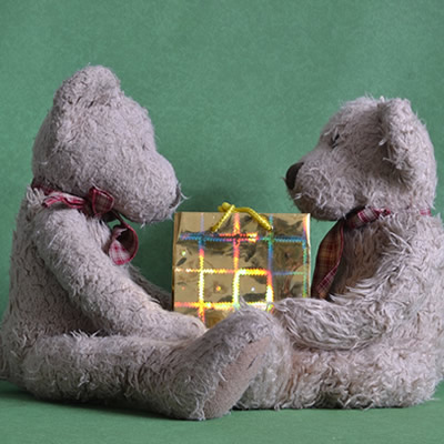 toys sharing present