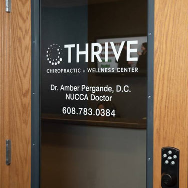 Thrive Chiropractic and Wellness Center door