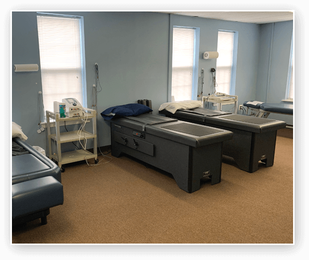 Therapy room at Life Chiropractic and Injury Center