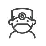 Illustration of dentist wearing mask