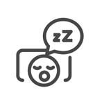 Illustration of someone snoring