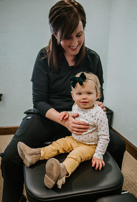 Dr. Ashton with infant