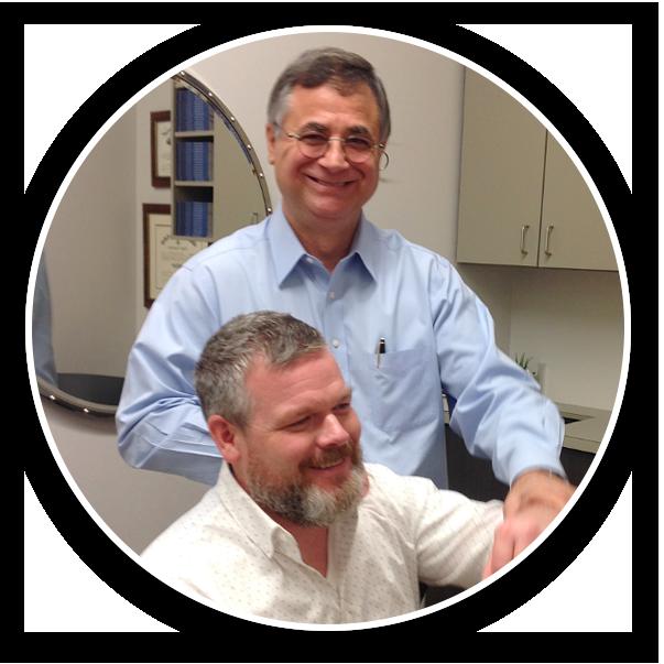 Dr. Longie with patient