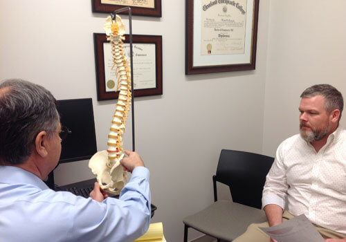 Dr. Longie consult with patient