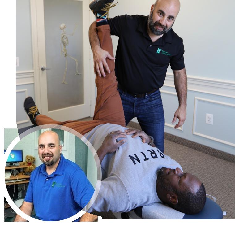 Dr. Triandos stretching patient
