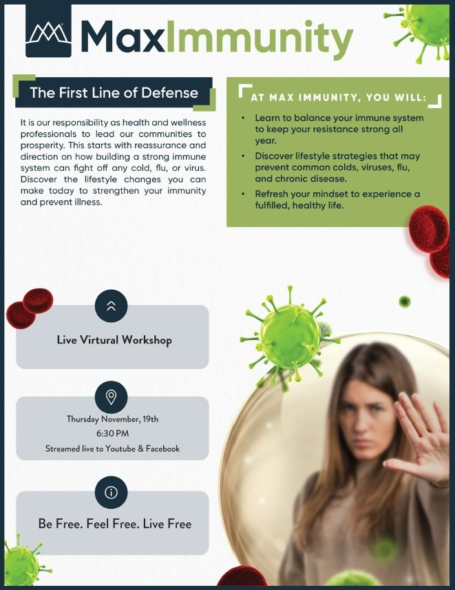 max immunity event flyer