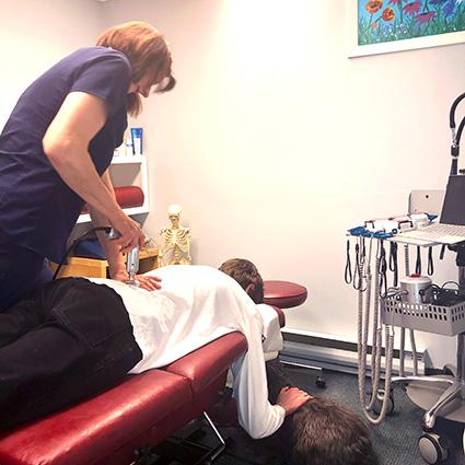 Instrument adjustment by Dr. Christine