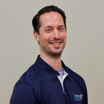 Jared Eidt, Dearborn Health physiotherapist