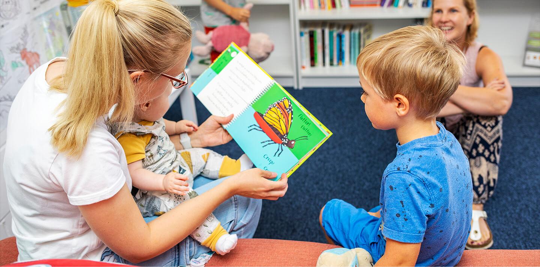 reading book to children