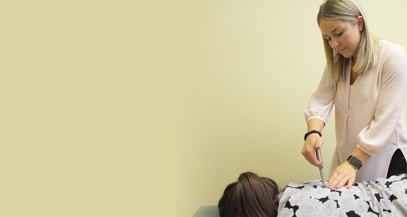 chiropractic adjustment of patient