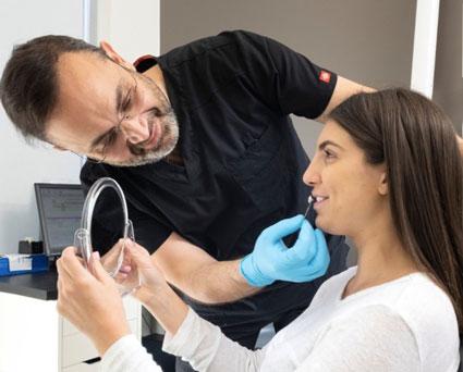 Dr Adam with patient
