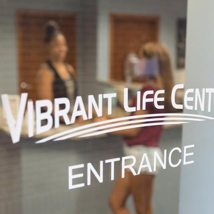 Vibrant Life Center door
