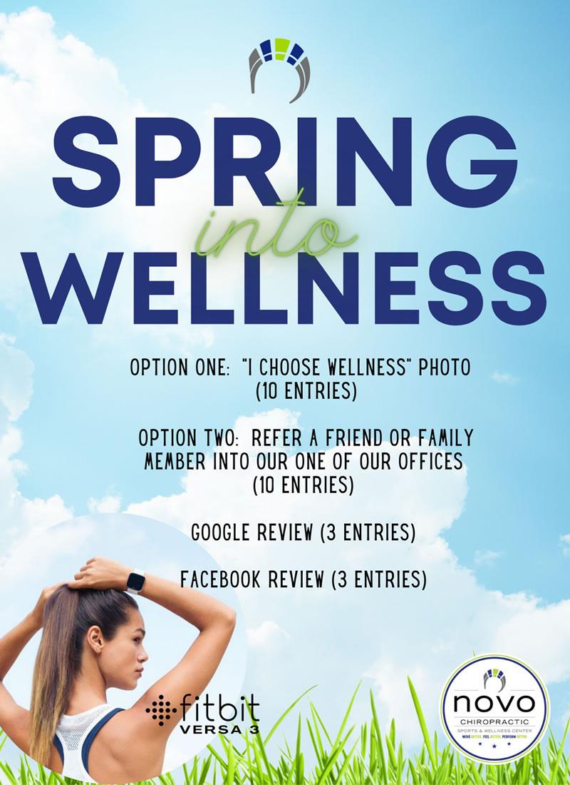 Spring into wellness promo
