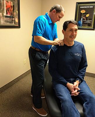 Dr. Janssen adjusting patient near Portsmouth