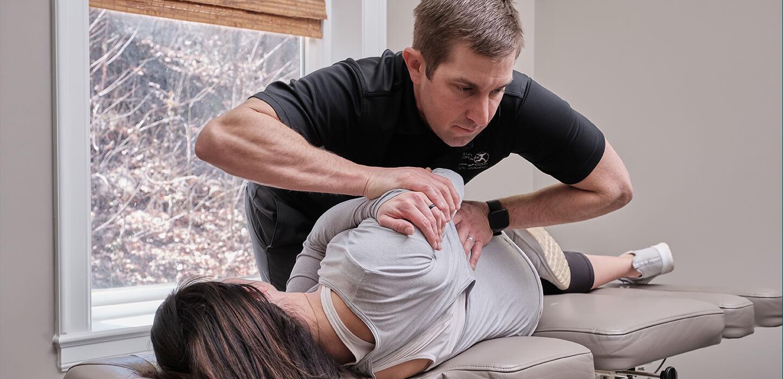 doctor adjusting