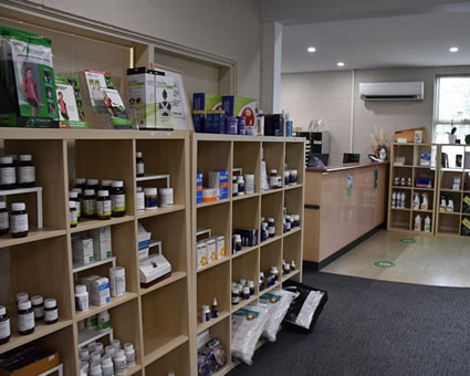 Supplements on shelves