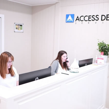 Access Dental Services reception area