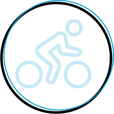 person riding bike icon