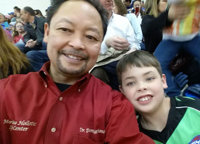 Dr. Mariano and his son Cameron
