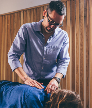 Rob adjusting a patient