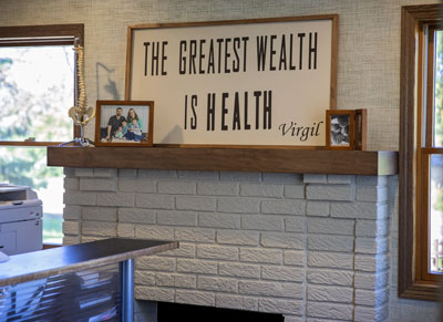Message on mantle