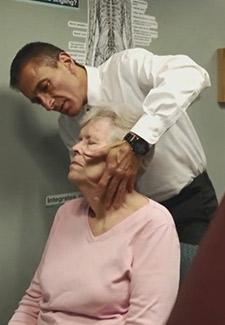 Dr. DiRubba adjusting a patient.