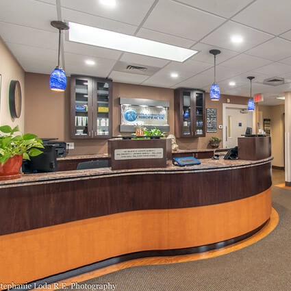 Central Connecticut Chiropractic reception desk