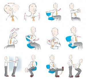Carl Irwin's favourite desk stretches