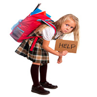 Schoolgirl holding a
