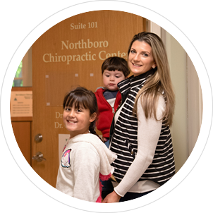 family at Northboro Chiropractic Center