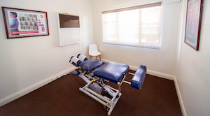 Treatment room at Back To Life Chiropractic