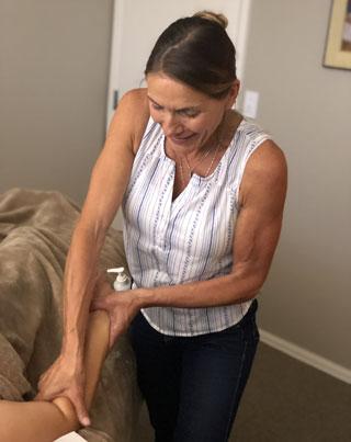 Lauren giving a massage