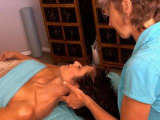 Olga giving a massage