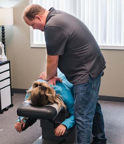 Adjustment on a patient