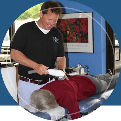 Doctor applying chiropractic technique on patient