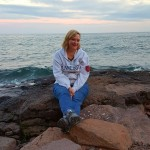 Kim at Lake Superior