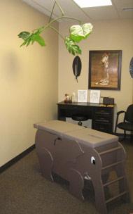 pediatric chiropractic room