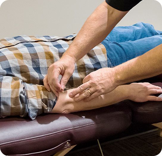 Acupuncture in forearm