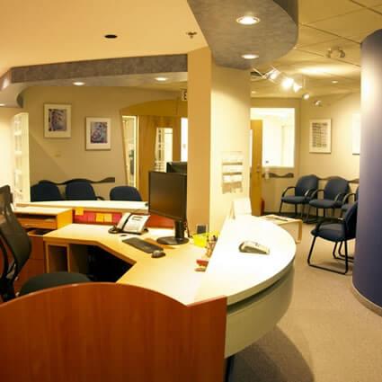 Polo Park Chiropractic Centre front desk
