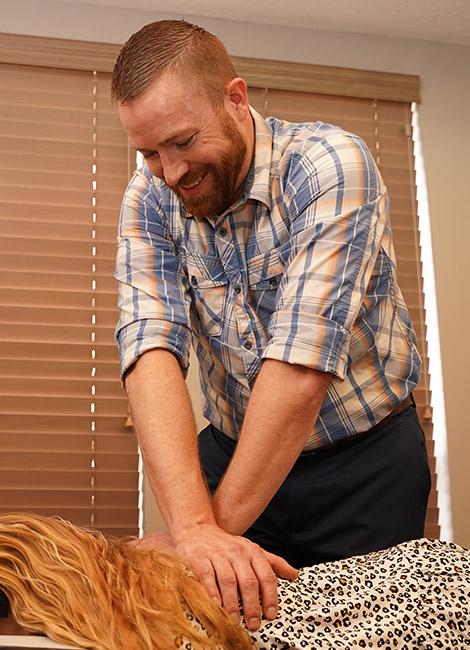 Dr. Funk adjusting