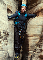 Dr. Zarzana climbing