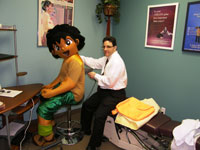 Dr. DeSano giving a scan