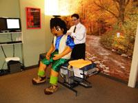 Dr. DeSano examining the spine