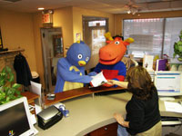 All patients check in at our front desk.