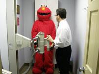Elmo getting x-rays
